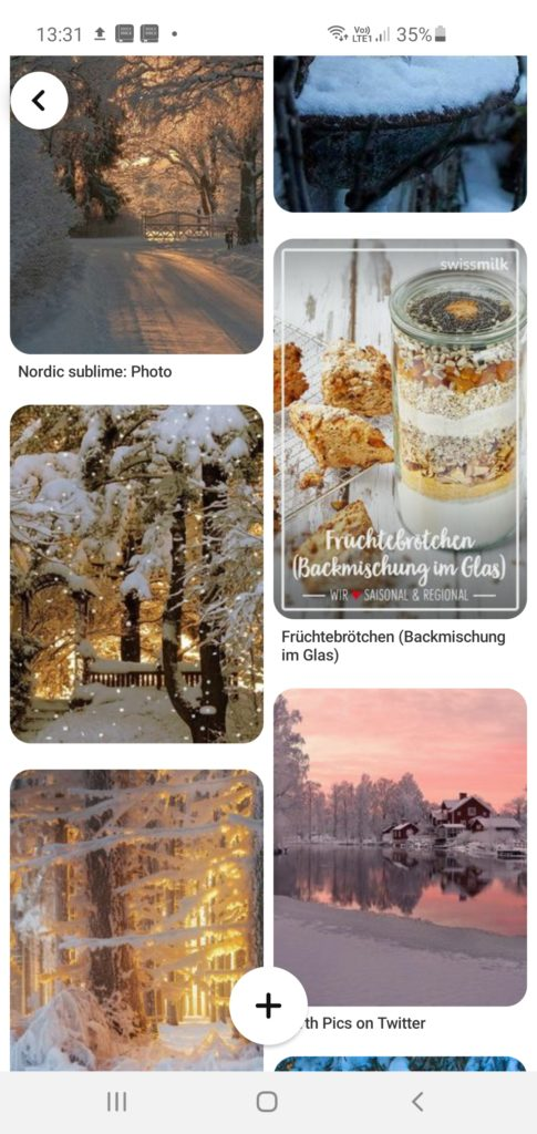 Images représentant l'hiver