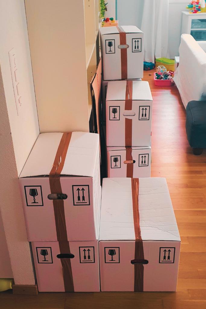 To-do liste déménagement et les cartons